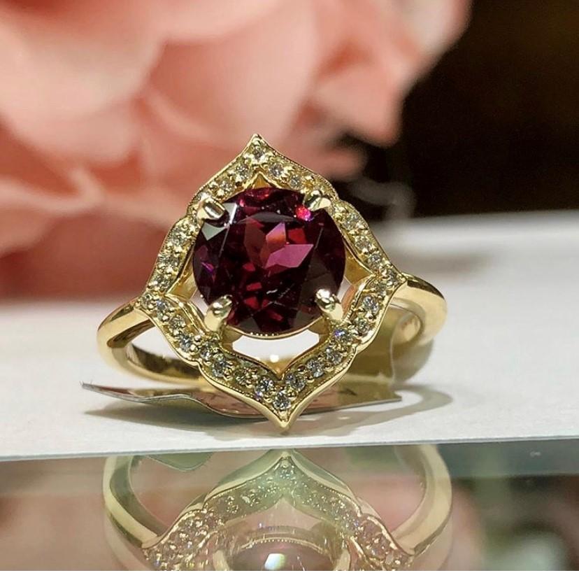 , Garnet Ring