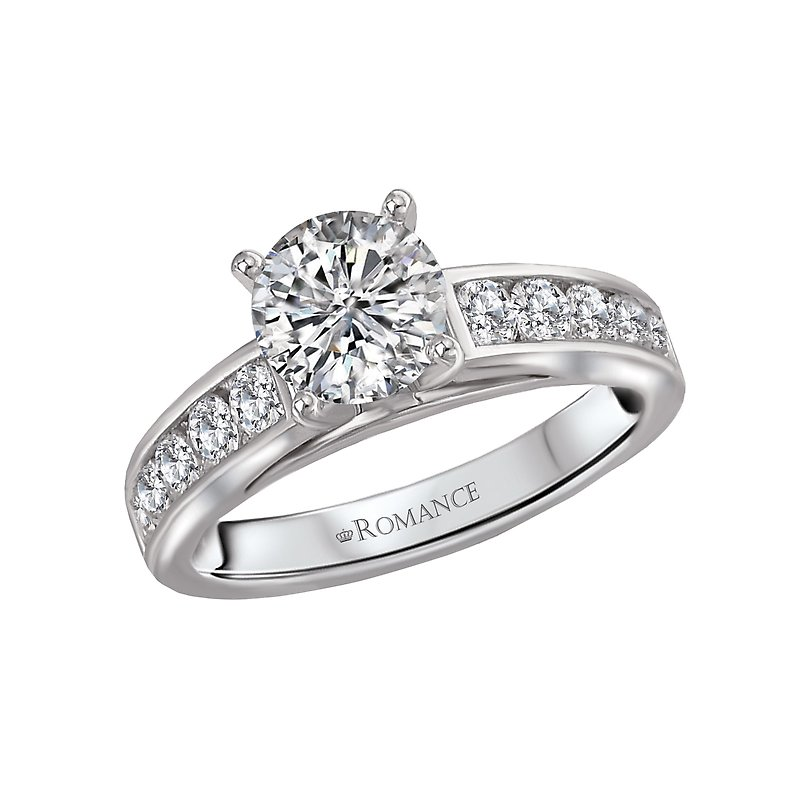 , Channel Set Engagement Ring